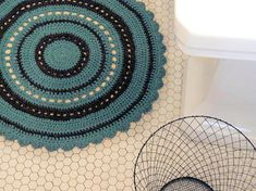 Crochet bath rug  -when I have a bathroom without carpet flooring, this will happen.