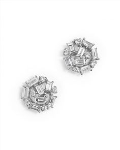1,625.00$  Watch now - http://vieds.justgood.pw/vig/item.php?t=blx4uo37987 - KC Designs Diamond Round and Baguette Stud Earrings in 14K White Gold, .60 ct. t.w.