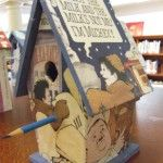 Birdhouse made by a 6th grader at Tenacre Country Day School in Wellesley, MA using In the Night Kitchen by Maurice Sendak