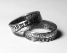 1978 Hand Crafted Double Sided Coin Ring Made From by LuckyLiberty