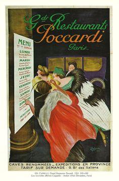Antique French RESTAURANT advertising poster - 1920s. $9.00, via Etsy. Restaurant Advertising, Advertising Poster, Atelier D Art, French Restaurants, Bottle Cap Images, Paris, French Antiques, 1920s, Art Art