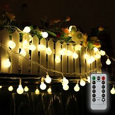 Tomshine 328ft 80 LED Battery Operated Globe String Lights Outdoor Decor for Patio Garden Party IP44 Water Resistance 3 AA batteries not provided * Find out more about the great product at the image link.-It is an affiliate link to Amazon. #SeasonalDecor