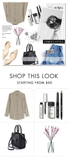 """""""Street Style)))"""" by m555m ❤ liked on Polyvore featuring Etro, Bobbi Brown Cosmetics, Paul Andrew, Rebecca Minkoff and LSA International"""