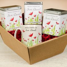 Personalised Tea Gift Set - Poppy Design  from Personalised Gifts Shop - ONLY £29.99
