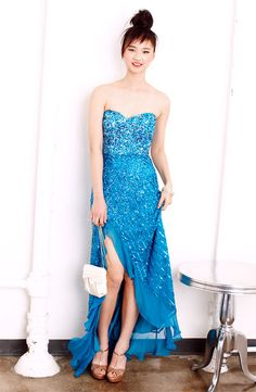 Sparkle & Shine: Sean Collection Sequin Silk Chiffon Gown #NordstromProm