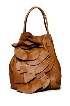 Valentino Ruffled Front Shoulder Bag