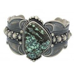 Gene Natan, Bracelet, Royal Web Turquoise, Sterling Silver, Navajo Made, 7 in