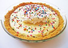 Funfetti Cake Batter Pie with a Golden Oreo Crust