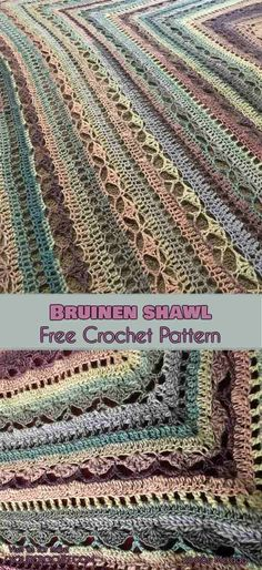 Bruinen Shawl [Free Crochet Pattern] | Your Crochet #freecrochetpatterns #crochetshawl