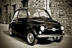 fiat 500 Black 1968 by slefevre01, via Flickr