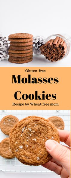 A gluten-free molasses cookie just like I remember as a kid Gluten Free Molasses Cookie Recipe, Gluten Free Cookie Recipes, Molasses Cookies, Gluten Free Sweets, Gluten Free Cookies, Ginger And Cinnamon, Recipe Using, Food Print, Dairy Free