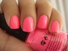 China Glaze Shocking Pink nail polish