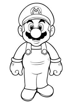 Free Super Mario Coloring Page Online