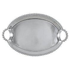 Amazon.com | String of Pearls Oval Handled Serving Tray: Serving Trays
