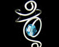Brazalete de plata pequeño remolino trago oído | Etsy