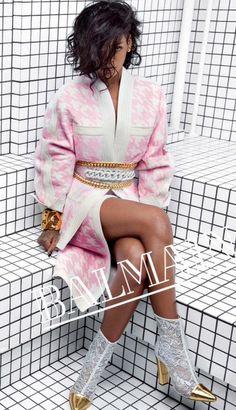 Rihanna Stars in Balmain Spring 2014 Campaign