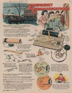 Emergency crystal set from 1965 Boys' Life magazine