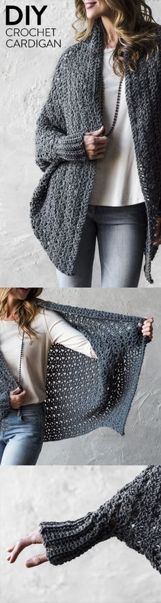 Carleton Cocoon Sweater Crochet Kit
