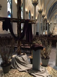 Lent 2017 Cathedral of St. Holy Thursday, Ash Wednesday, Lent Decorations For Church, Easter Garden, Falls Church, Church Flowers, Church Banners, Church Activities, Church Design