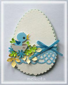 Прикосновение к Миру Творчества...: Пасхальная открытка-яичко.