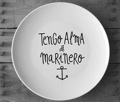 Plato decorativo, Tengo alma de marinero