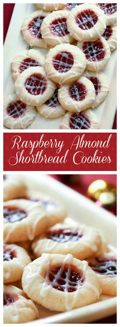 Raspberry Almond Shortbread Thumbprints ~ The Great Food Blogger Cookie Swap 2012 - Saving Room for Dessert