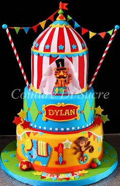 CARNIVAL THEMED BIRTHDAY PARTY Circus Theme cake and dessert table