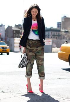 Camo glam. I love this look.
