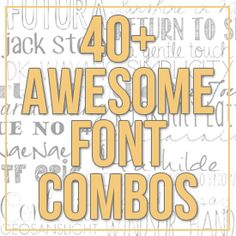 Favorite Font Combos - Yellow Bliss Road