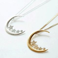 Moon and Stars Necklace-LOVE!!!! Push present maybe!!!