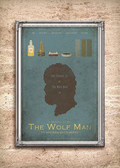 The Wolf Man  Universal Monsters Series  24x36 by adamrabalais, $45.00