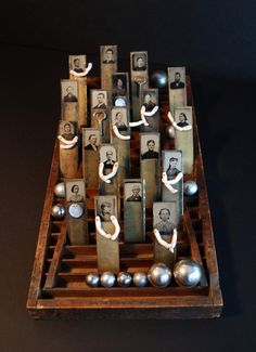 Thinking outside the genealogy box! 23 Sandy Gallery Family Matters by Julie Shaw Lutts. This is a wonderful idea! Collages, Collage Art, Collage Ideas, Found Object Art, Find Objects, Assemblage Art, Handmade Books, Antique Photos, Art Design