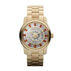 Michael Kors Women red glitz concentric pave Dial gold Band Watch $208.95 http://r.ebay.com/pvn1Dv #WomenWatch