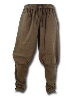 Wikingerhose, braun Durch die Schnürung am Bund ist die Wikingerhose variabel in der Weite und sehr angenehm zu tragen. Die eng geschnittenen, geschnürten Waden sorgen für den Pluder-Look an den Oberschenkeln und die Wikingerhose...