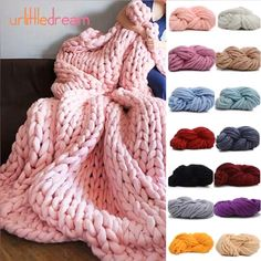 How to make a chunky knit blanket - DIY guide for beginners. - How to make a chunky knit blanket – DIY guide for beginners. Knit your first sup… – How to make a chunky knit blan Hand Knit Blanket, Chunky Blanket, Knitted Blankets, Knitting Blanket Patterns, Thick Yarn Blanket, Finger Knitting Blankets, Large Knit Blanket, Diy Blankets, Chenille Blanket