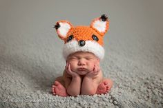 Hey, I found this really awesome Etsy listing at https://www.etsy.com/listing/247779047/baby-boy-girl-fox-hat-newborn-0-3m-6m