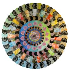 Make Over Mandala by Virginia Fleck: Made entirely of recycled plastic bags and tape.  #Mandala #Virginia_Fleck #Green