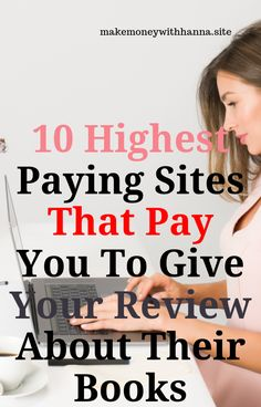 10 highest paying sites that will pay you for book review #freelance #bookreview #earnonline #passiveincome