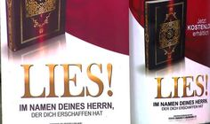 Blazing Cat Fur Bungling Muslims Promote Koran with signs saying [LIES]- unaware of English translation.  LOL happened in Germany.