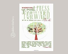 Press Forward Saints Tree Typography 4 sizes 2016 by Jabberdashery