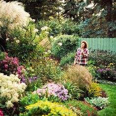 Give your favorite plants better view-blocking power by growing them in raised beds or berms. You will be surprised at how much more secluded your yard feels by mounding the soil enough to add a foot or two to your plants' height. Plus it puts medium-size plants at eye level.