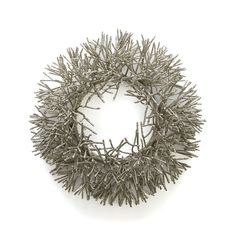 Glitter Wreath in Christmas Decorating   Crate and Barrel