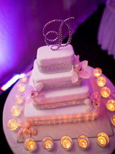 Stylish Caribbean Destination Wedding cake