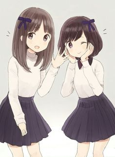 Anime Girl Short Hair, Anime Hair, Friend Anime, Anime Best Friends, Shinoa Hiiragi, Sky Anime, Pretty Anime Girl, Cute Hairstyles For Short Hair, Cute Disney Wallpaper