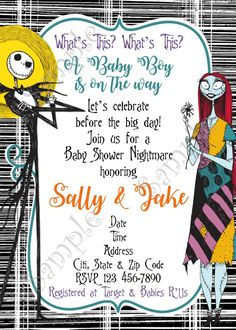 24 best nightmare before christmas party nightmare before christmas the nightmare before christmas baby shower invitation filmwisefo