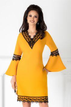 Rochie Marta galbena cu dantela si margele - Rochii Femei - Issa, Cold Shoulder Dress, Sewing, Stuff To Buy, Dresses, Fashion, Woman Dresses, Cute Skirts, Cute Dresses