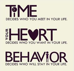time, your heart, behavior