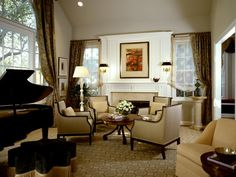 Traditional Living Room Arrangements great baby grand piano decorating ideas for graceful living room
