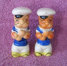 Popeye Salt Pepper Shakers Scarce and Rare by LandOfLivingSkies, $159.00