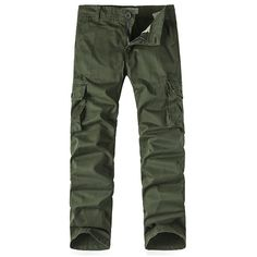 Mens Cargo Pants Brief Style Solid Color Loose Fit Outdoor Spring Fall... ($28) ❤ liked on Polyvore featuring men's fashion, men's clothing, men's pants, men's casual pants, mens summer pants, mens pants, mens zipper pants, mens zip off cargo pants and mens loose fit pants